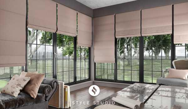 long roman blinds