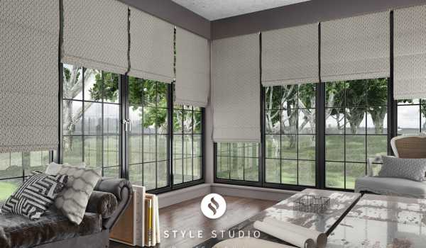 custom roman blinds