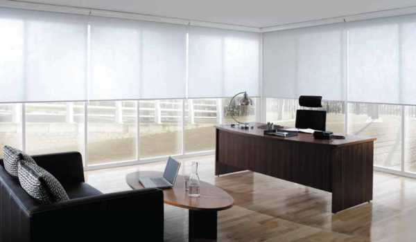 commercial white roller blinds