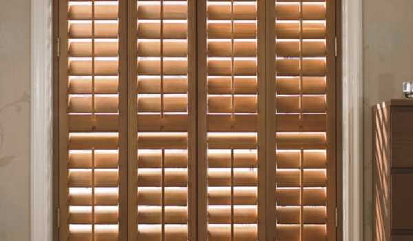 oiled vertical wooden shutter