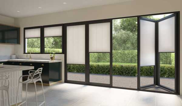 cream electric blinds