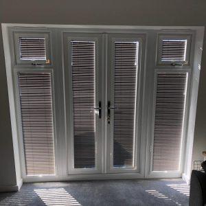 Venetian blinds on patio door