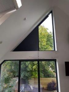 triangular window blinds