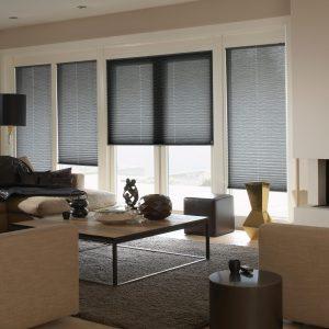 dark grey bi-fold door blinds