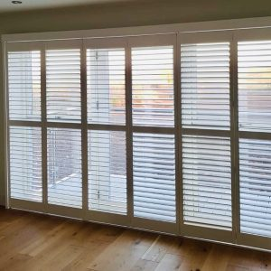 closed full height tracked shutters