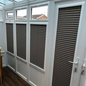 perfect fit pleated blinds in conservatory