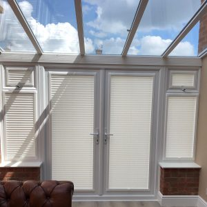 closed conservatory blinds