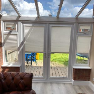 half open conservatory blinds