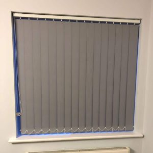 mid grey vertical blinds