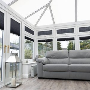 dark grey conservatory blinds