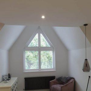 bespoke shape tier-on-tier shutters
