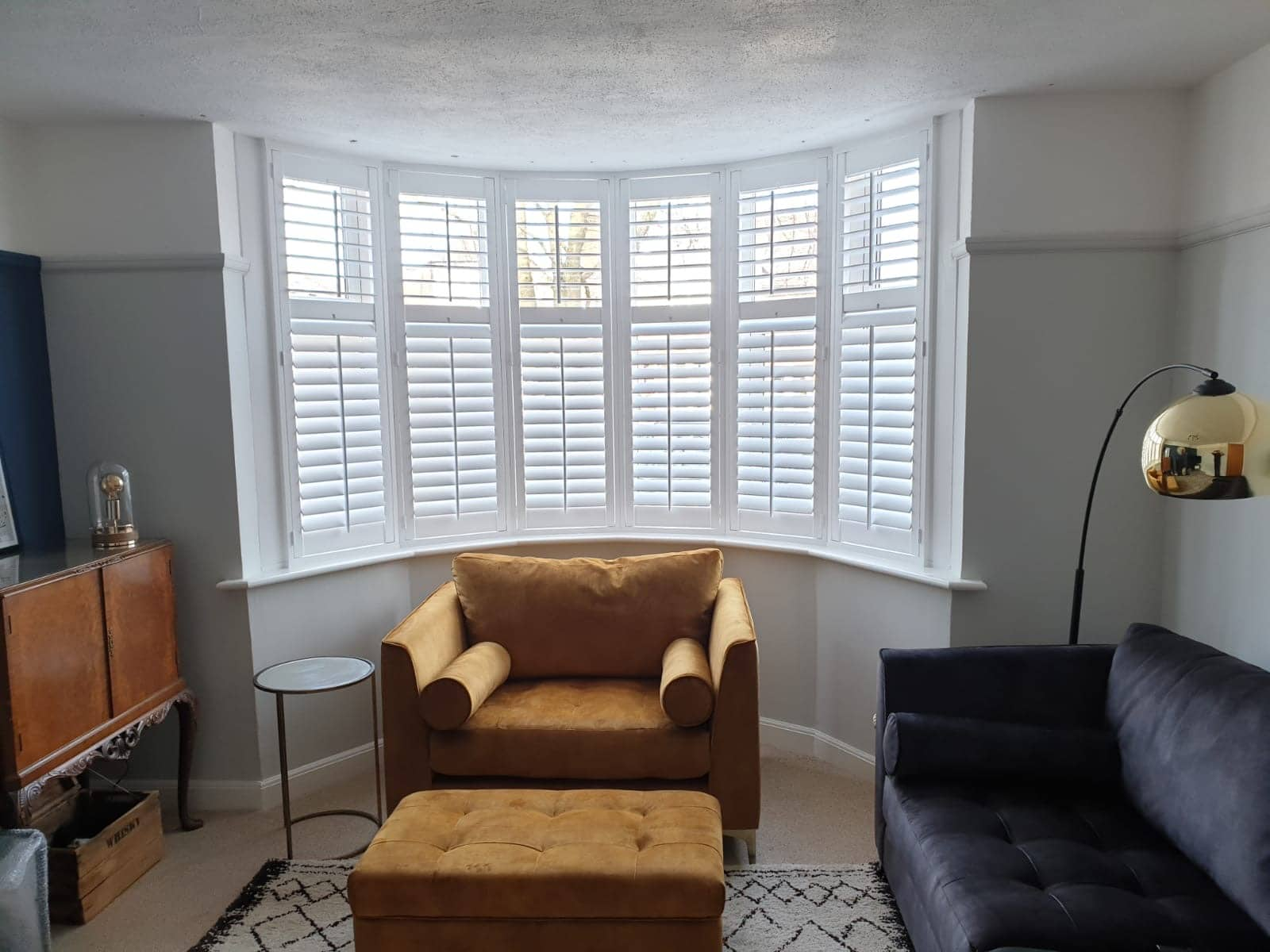 Image of: Bay Window Shutters Leicester Coventry Northampton Fraser James Blinds