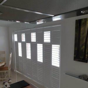closed tracked shutters