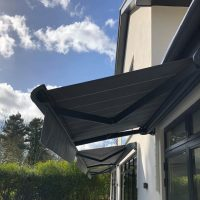 modern patio awning