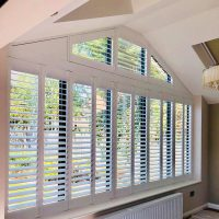 white bespoke shutters
