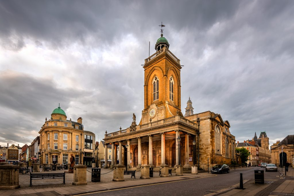 Northampton town centre in Northamptonshire