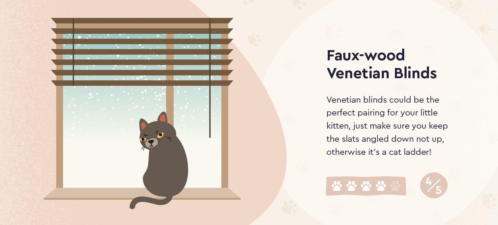 Faux Wood Venetian Blinds and Cats